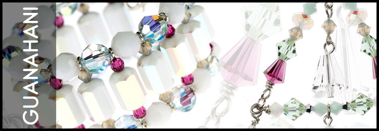 Sterling silver and Swarovski crystal jewelry collection. Made by Karen Curtis NYC
