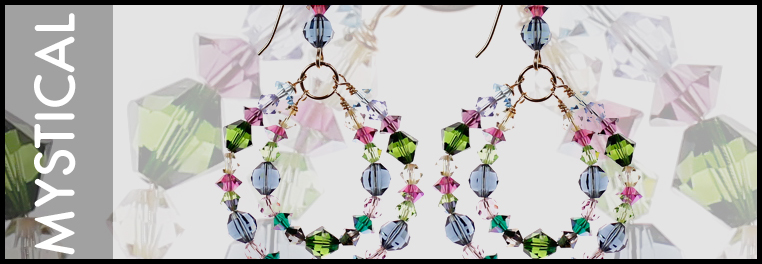 Super colorful designer jewelry made in the U.S. and limited edition.